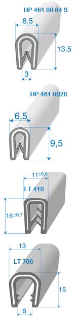Profils avec armature métallique