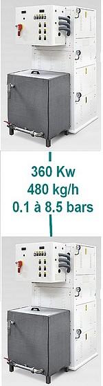 GENERATEUR VAPEUR MA 360 - 250 à 360 kW - production vapeur de 350  à 480 kg/h  - 8,5 bars
