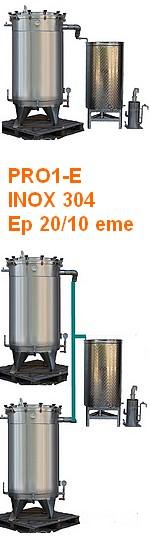 ALAMBICS INOX PRO1-E - 1000 ou 2 x 1000 ou 3 x1000 ou 4 x 1000 Litres