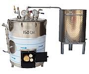 DISTILLATEUR  ALAMBIC SPH  chauffés au BOIS - 2 méthodes de distillation