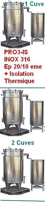 ALAMBICS INOX PRO3-IS - 1000 ou 2 x 1000 ou 3 x1000 ou 4 x 1000 Litres
