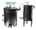 ALAMBICS INOX SP-R-B - 300 LITRES - Fond flamme GAZ - Permet aussi distillation roses (hydrolats)