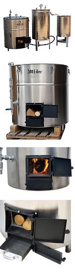 DISTILLATEUR  ALAMBIC SPV + BOUILLEUR  chauffé au BOIS - 3 méthodes de distillation