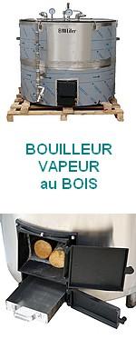 BOUILLEUR VAPEUR BOIS - A raccorder  à un alambic