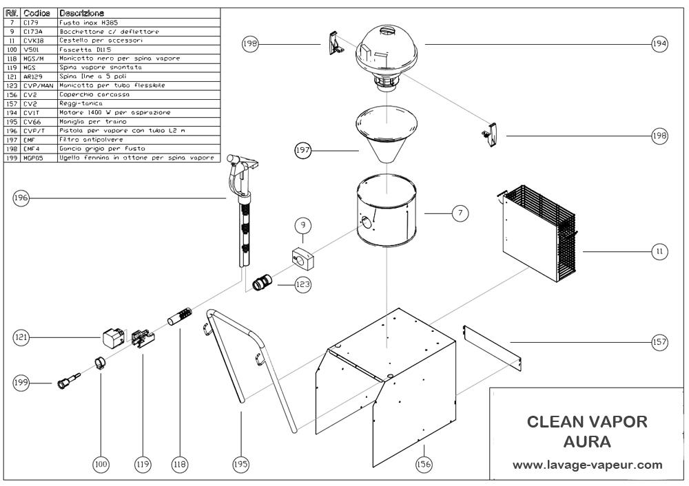 Pièces extérieur clean vapor 2