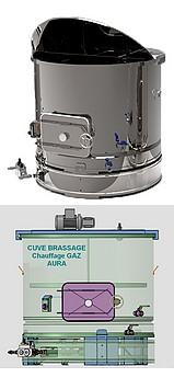 CUVE DE BRASSAGE GAZ 200 à 800 Litres