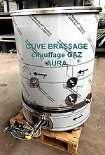 CUVE DE BRASSAGE BIERE GAZ 200 Litres + MELANGEUR