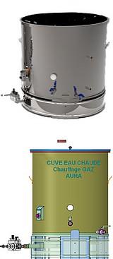 CUVE EAU CHAUDE GAZ - 100 à 800 litres