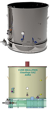 CUVE EBULLITION GAZ -  100 à 800 litres