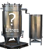 CAPACITE de l'alambic distillateur (en litres)