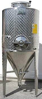 FERMENTEUR INOX 304L - 300 à 800 Litres - épaisseur 10/10 eme mm