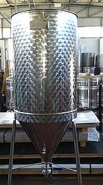 FERMENTEUR INOX 304L - 60 à 300 Litres - épaisseur 0,8 mm