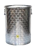 FUTS INOX 316 - 10/10 -ème - avec couvercle + joint + cerclage
