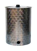 FUTS INOX 304L MIEL - Fond plat + couvercle + vanne grand débit MIEL - liquides epais