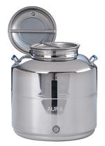 FUTS INOX 304 de stockage, de vente ou de présentation-10 à 50 litres - Qualité supérieure pickling