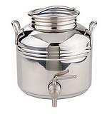 FUTS INOX 304 de stockage, de vente ou de présentation-2 à 5 litres - Qualité supérieure pickling