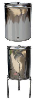 FUTS INOX 304  - parois LISSES - 7/10 -ème - 50 à 150 litres