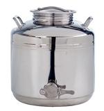 FUTS INOX 304 MIEL - 10 à 50 litres - pour transfert, stockage, vente ou présentation - Qualité supérieure 18/10ème