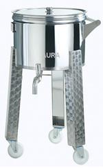 Futs INOX mobiles sur pieds 100 et 180 litres - ouverture totale