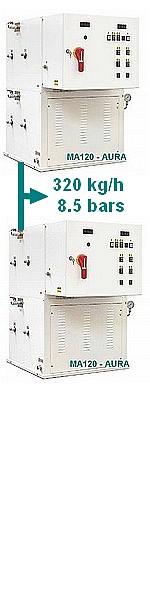 GENERATEUR VAPEUR MA 240 - 120 à 240 kW - 168 à 320 kg/h  - 4 à 8,5 bars