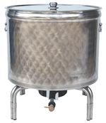 CUVES  INOX  avec fond FEU GAZ - 50 à 200 L