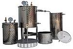 ALAMBICS INOX MULITPLANTES ECO SPB/SPRB - Hydrodistillation (fond flamme GAZ )+ Vapo-distillation