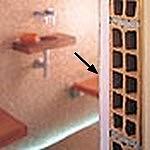 Matériaux composant le hammam (obligatoire pour calculer la puissance du générateur de vapeur)