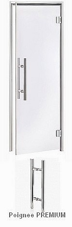 PORTES HAMMAM  STEAM-PREMIUM - 1 Battant - VERRE TRANSPARENT