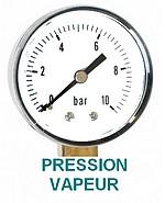 Pression vapeur recherchée