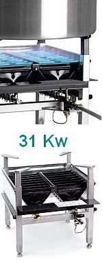 BRULEURS GAZ 30 kW PRO - Support carré