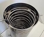3° REFROIDISSEURS/CONDENSEURS INOX 304 - Sélectionner 1 refroidisseur pour l'ensemble des cuves - doubler les refroidisseurs pour un debit plus rapide