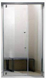 PORTE SAGACE 105 = Porte 65 cm + PANNEAU vitré 40 cm - ALU anodisé ou BLANC mat