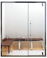 PORTE SAGACE 155 = Porte 65 cm + PANNEAU vitré 90 cm - ALU anodisé ou BLANC mat