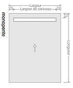 SOLS HAMMAM  avec écoulement  type RIGOLE  - MONO PENTE - Accès PMR