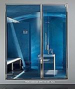 PORTES Hammam SPA - INOX  - Largeurs 150-160-170 cm = PORTE 80 cm + PANNEAU vitré  - avec contre-chassis